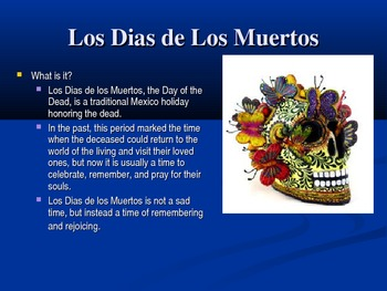 Dia De Los Muertos (Day of the Dead) Cultural Introduction