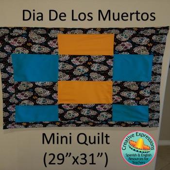 "Dia De Los Muertos Mini Quilt (29""x31"") or Kit"