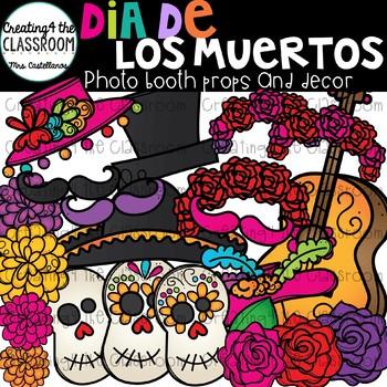 Dia De Los Muertos Photo Booth Props and Decor {Dia de los Muertos}