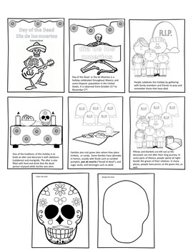 Dia De Los Muertos The Day of the Dead Coloring and Information Book
