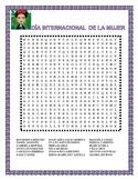 Dia Internacional de la Mujer- March 8th-Word Search & Famous Hispanic Women