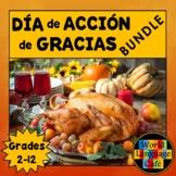 Spanish Thanksgiving Día de Acción de Gracias Actividades,