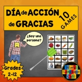 Spanish Thanksgiving Games, Activities, Actividades, Día d