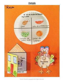 Spanish Thanksgiving Writing Activities, Escritura, Día de Acción de Gracias