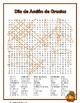 Dia de Accion de Gracias Buscapalabras (Spanish Thanksgiving Word Search)