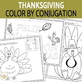 Spanish Thanksgiving Coloring Review Activities for Novices