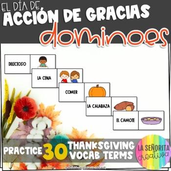 Día de Acción de Gracias Domino Game - Thanksgiving Dominoes