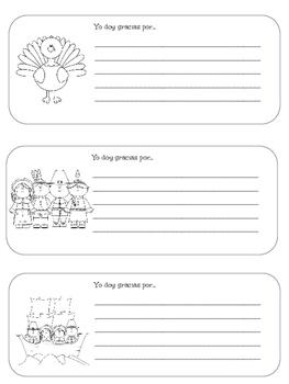 Freebie! Día de Acción de Gracias Mini-Book