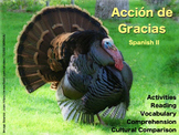 Dia de Accion de Gracias - Spanish Lesson about Thanksgiving