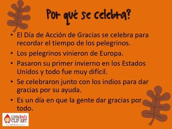 Dia de Accion de Gracias (Thanksgiving)