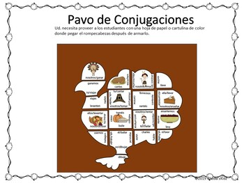 Día de Acción de Gracias   -Thanksgiving Day -Presente Subjuntivo- Rompecabezas