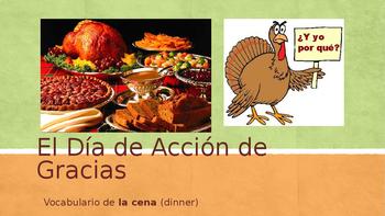 Día de Acción de Gracias / Thanksgiving: VOCAB PPT
