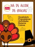 Dia de Accion de gracias -Thanks giving