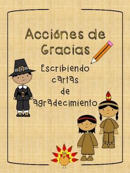 Escritura Día de Acción de Gracias / Thanksgiving Spanish Writing
