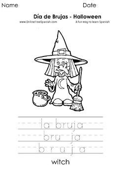 Día de Brujas - Halloween   Páginas para Colorear -  Coloring Pages