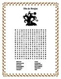 Dia de Brujas- Sopa de Letras - Halloween -Word Search & Puzzle-Spanish