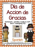 Día de Gracias - SPANISH Thanksgiving Day Pilgrim craft & activities