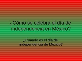 Día de Independencia Mexicana- Powerpoint del Grito de Dolores