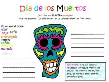 Dia de Los Muertos (Day of the Day) Bilingual Activity Pack