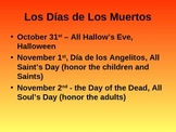Dia de Los Muertos - Day of the Dead Power Point (IMPROVED)