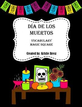 Día de Los Muertos/Day of the Dead Vocabulary Square Puzzle
