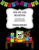 Día de Los Muertos/Day of the Dead Vocabulary Magic Square