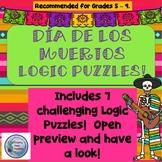 Día de Los Muertos Logic Puzzles, Critical Thinking Puzzles, Fun Brain Busters