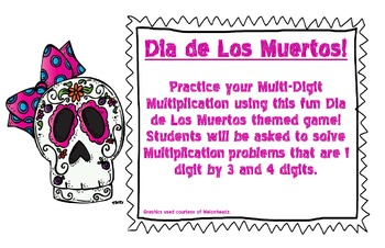 Dia de Los Muertos Multiplication Game