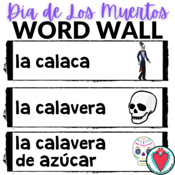 Day of the Dead Spanish Word Wall