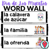 Spanish Day of the Dead - El Dia de Los Muertos Word Wall