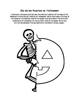 Dia de Los Muertos vs Halloween Comparison