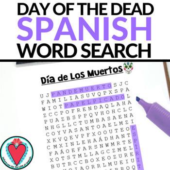Spanish Day of the Dead - Día de Los Muertos Word Search