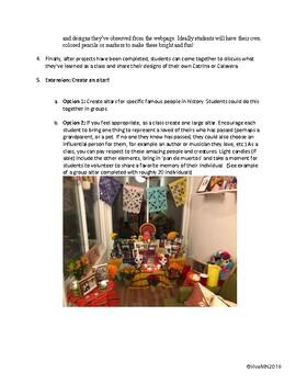 Dia de Muertos (Day of the Dead) Interactive and Creative Activity Webquest