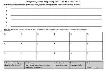 Dia de Muertos (Day of the Dead) Spanish Week Unit with Informal Commands