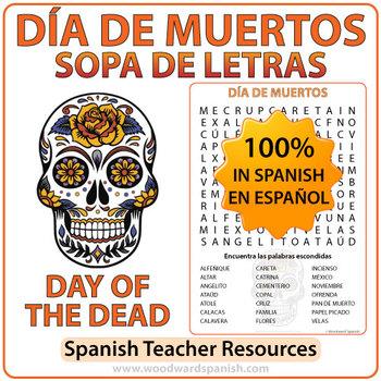 Día de Muertos - Day of the Dead - Spanish Word Search
