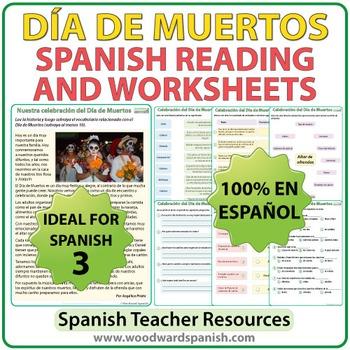 Día de Muertos - Spanish Reading and Vocabulary