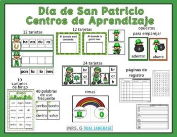 Día de San Patricio: Centros de Aprendizaje