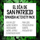 Día de San Patricio Spanish Activities for St. Patrick's Day Lesson Plan