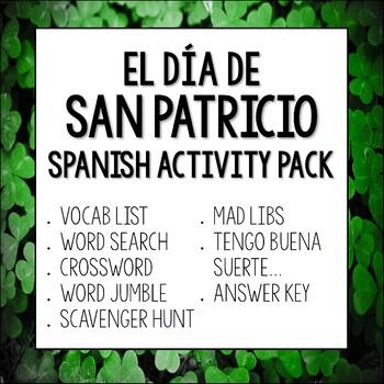San Patricio Spanish Teaching Resources   Teachers Pay Teachers