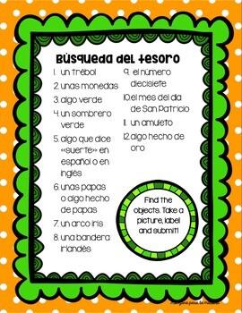 Día de San Patricio Spanish Activities for St. Patrick's Day Lesson Plan