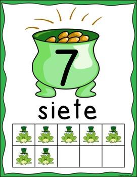 Dia de San Patricio: Number Posters in Spanish