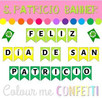 Día de San Patricio banner - Colour me Confetti