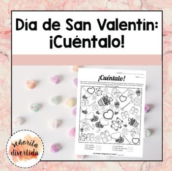 Día de San Valentín: Count It Activity