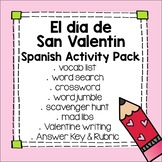 Día de San Valentín Spanish Activities for Valentine's Day Lesson Plan