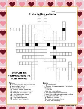 Día de San Valentín Spanish Activities for Valentine's Day Lesson Plan