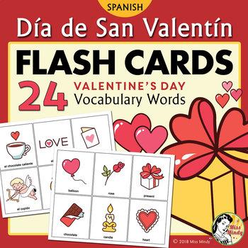 Día de San Valentín - Spanish Valentine's Day Flash Cards & Memory Game