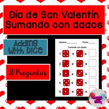 Día de San Valentín-Sumando con dados/Adding with dice
