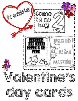 Día de San Valentín - Valentine's day cards FREEBIE