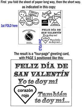 A~SPANISH~Z~Día de San Valentín greeting card