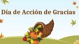 Dia de accion de gracias Powerpoint- easy vocab